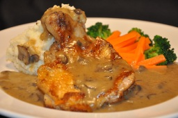 country barn's chicken chop